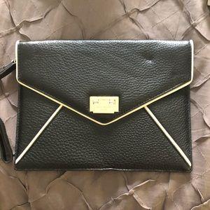 BNWT Black Kate Spade envelope clutch